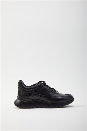 All Black Gold Sneakers